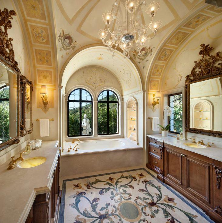 italian palazzo in montecito by sfa design dk decor. Black Bedroom Furniture Sets. Home Design Ideas