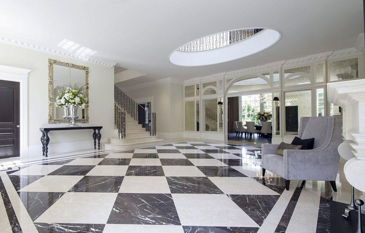 Foyer Open To Dining Room : Classical neo palladian mansion dk decor