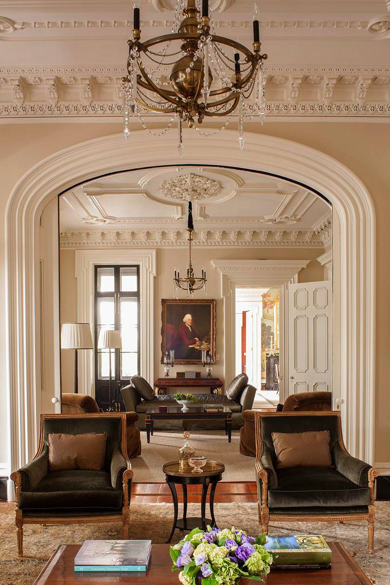 Southern classic historic charleston mansion dk decor for Traditional home decor