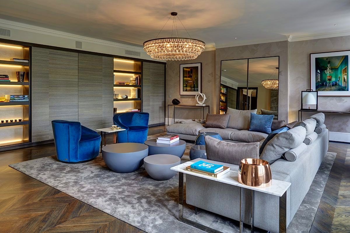 Knightsbridge contemporary penthouse staffan tollgard for Interior designs london