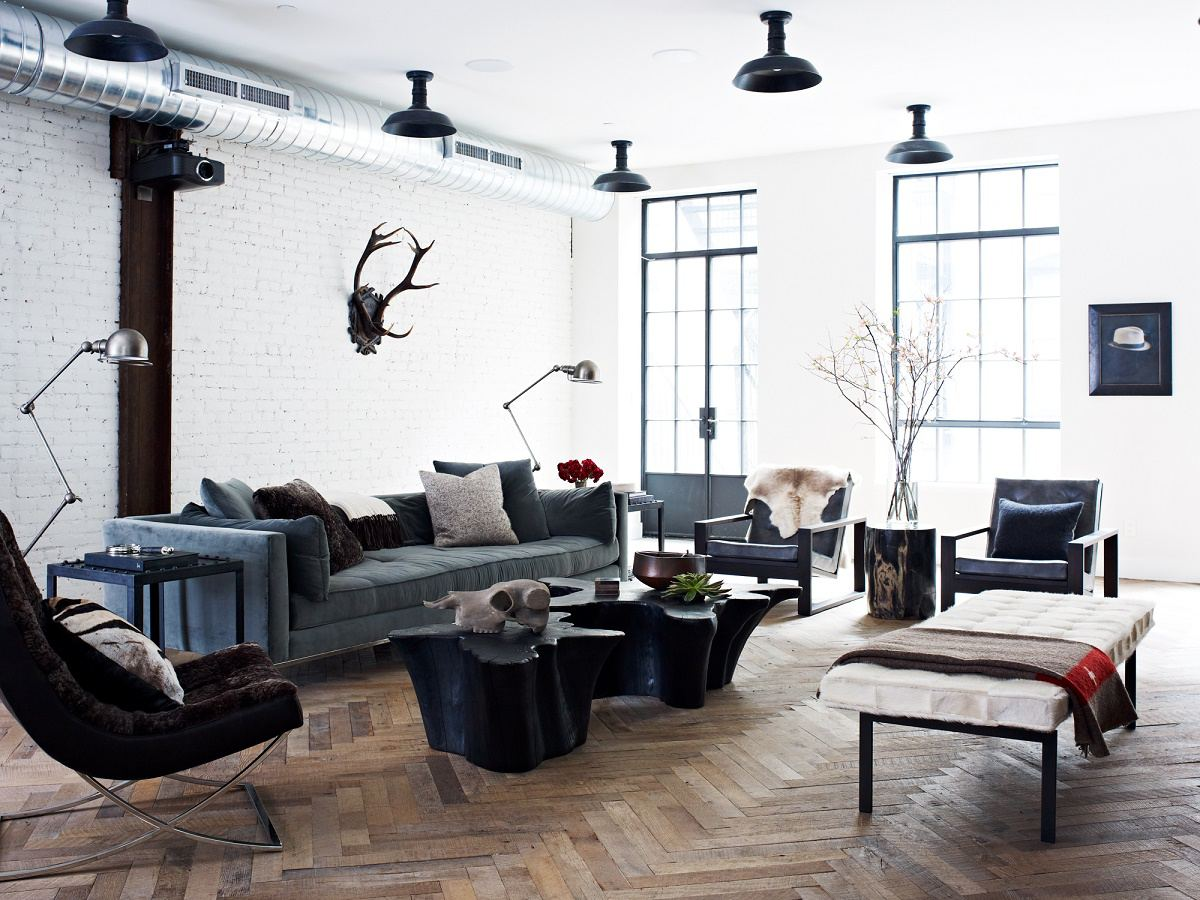 Urban loft bachelor pad dk decor for Living room nyc
