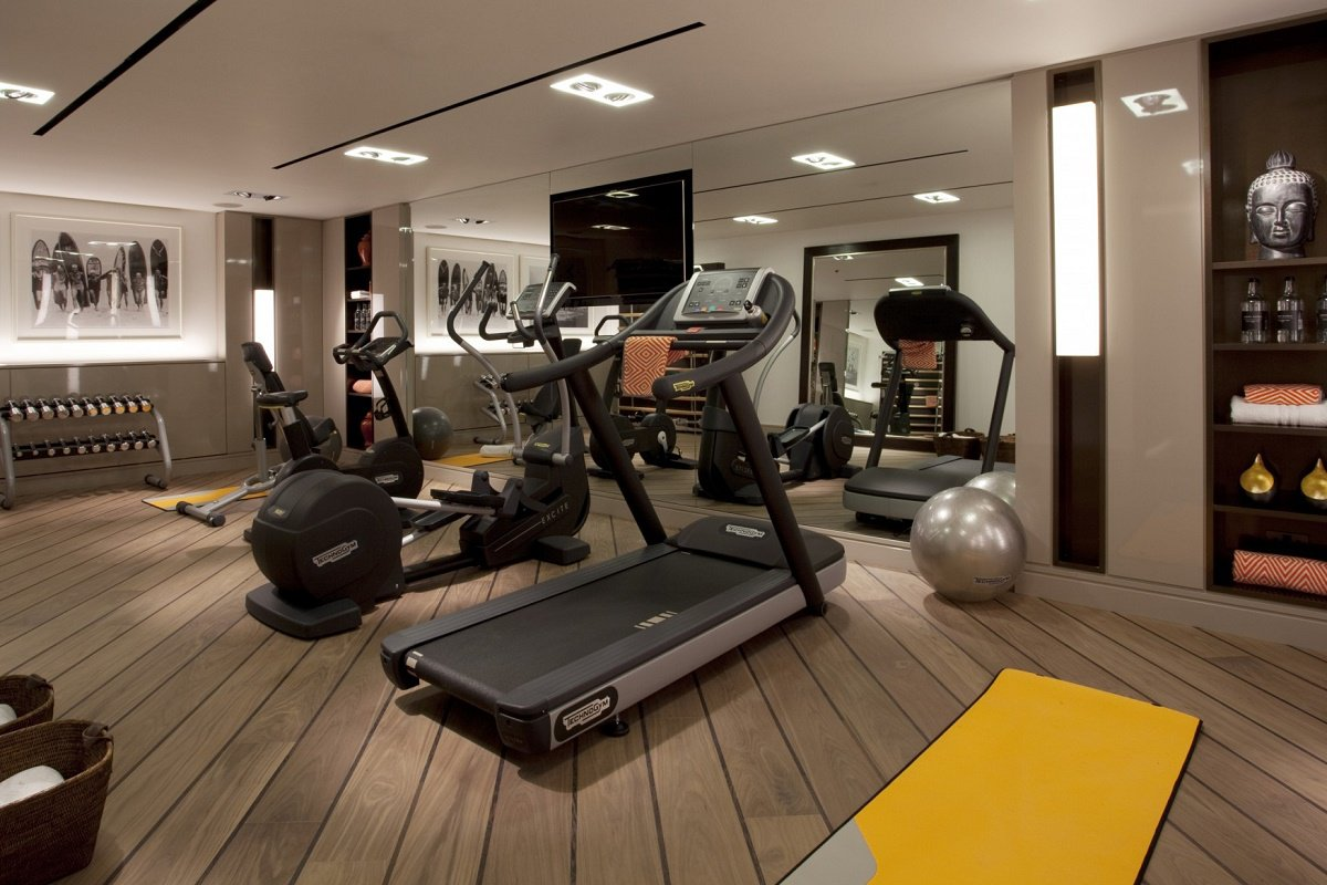 Home fitness room ideas exclusive home design for Basement workout room
