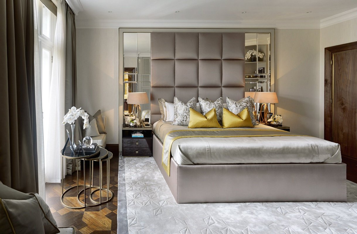 Contemporary luxury design hyde park for Luxury modern bedroom