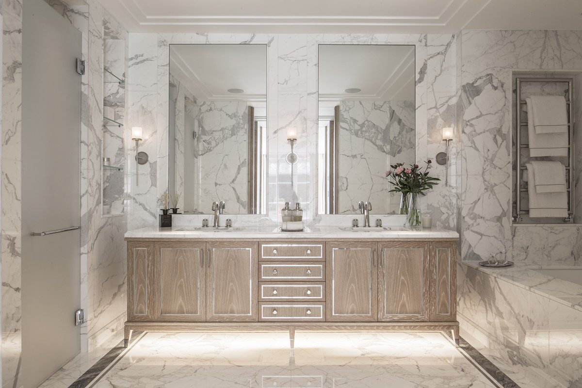 Contemporary regency design in belgravia dk decor for Bathroom ideas london