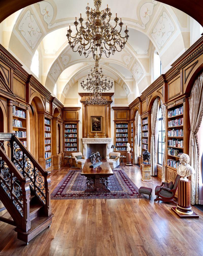 Classic mediterranean design in arizona dk decor for Classic home library