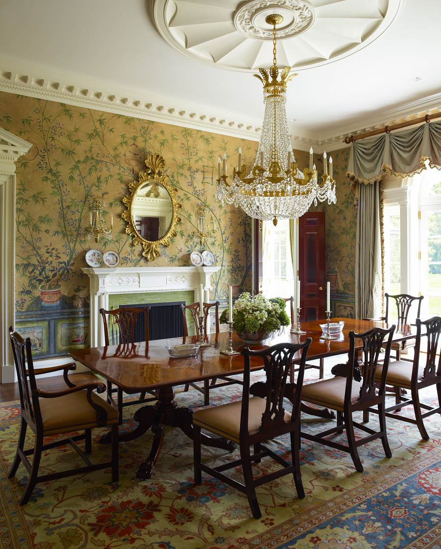 Traditional Dining Room: Georgian Modern Traditional Elegance