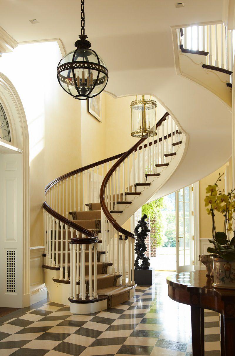 Georgian modern traditional elegance dk decor for Georgian staircase