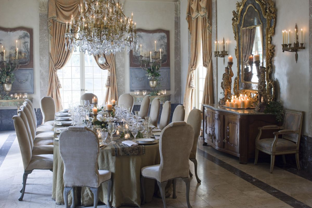 french chateau kara childress formal dining room