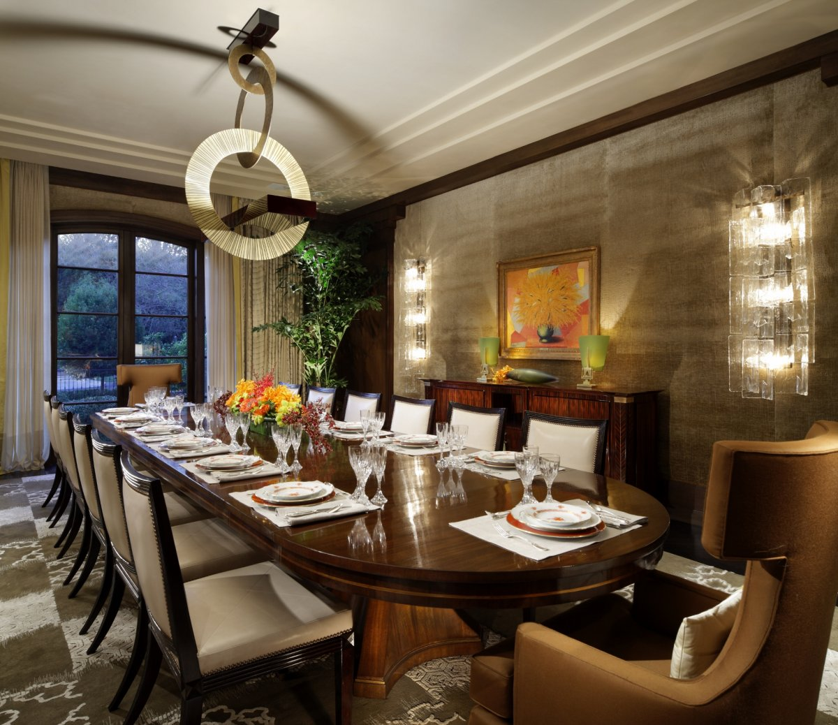 Art Deco Dining Rooms: Deco Inspired Villa By Joan Behnke