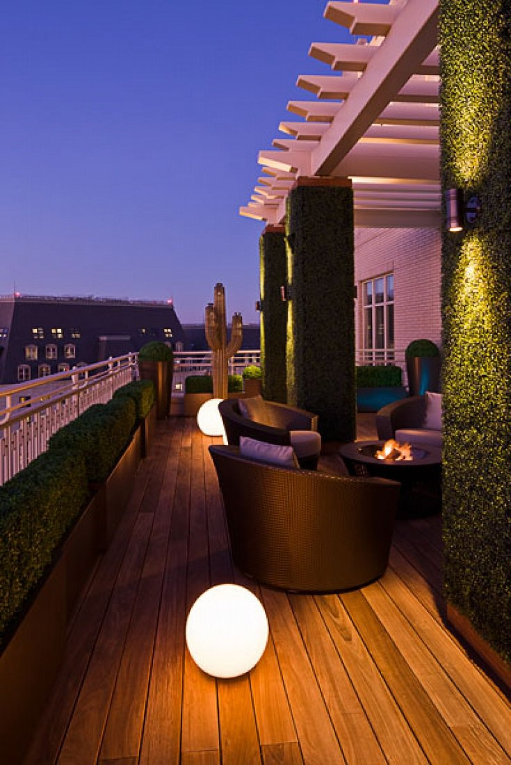 Sojo Ritz Carlton luxury penthouse side terrace