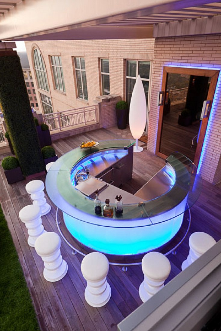 Sojo Ritz Carlton luxury penthouse terrace bar