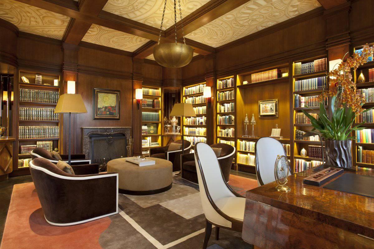 deco villa library Joan Behnke