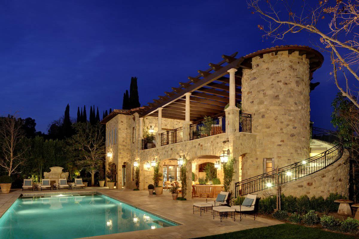deco villa pool pavilion Joan Behnke