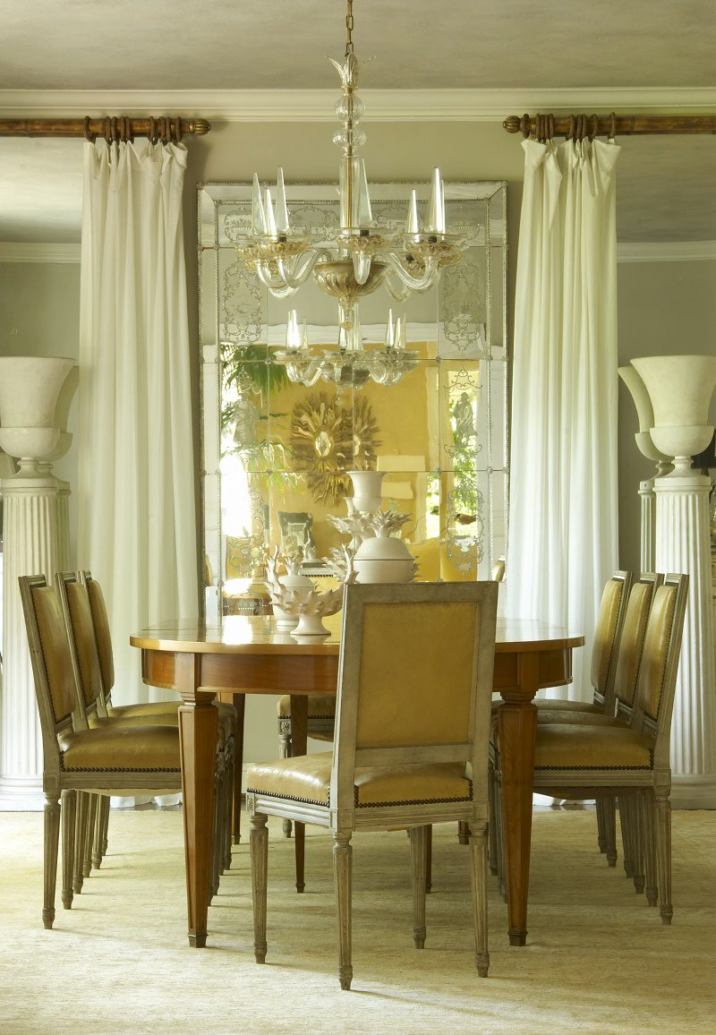 Jan Showers understated glamour country dining room
