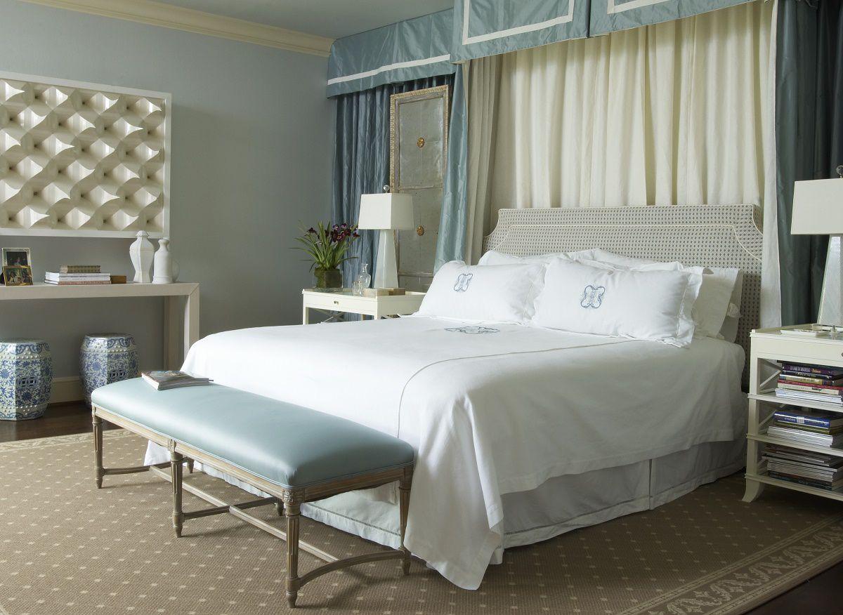 Jan Showers understated glamour Highland Park bedroom