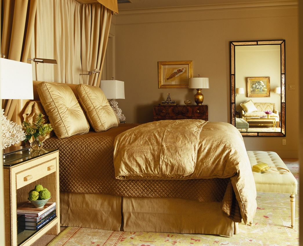 Jan Showers understated glamour Preston Hollow bedroom
