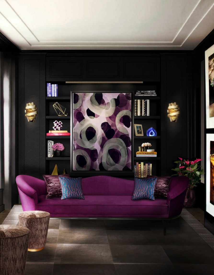 KOKET-colette-sofa-tresor-stool-chloe-sconce-blackcobra-rug-2