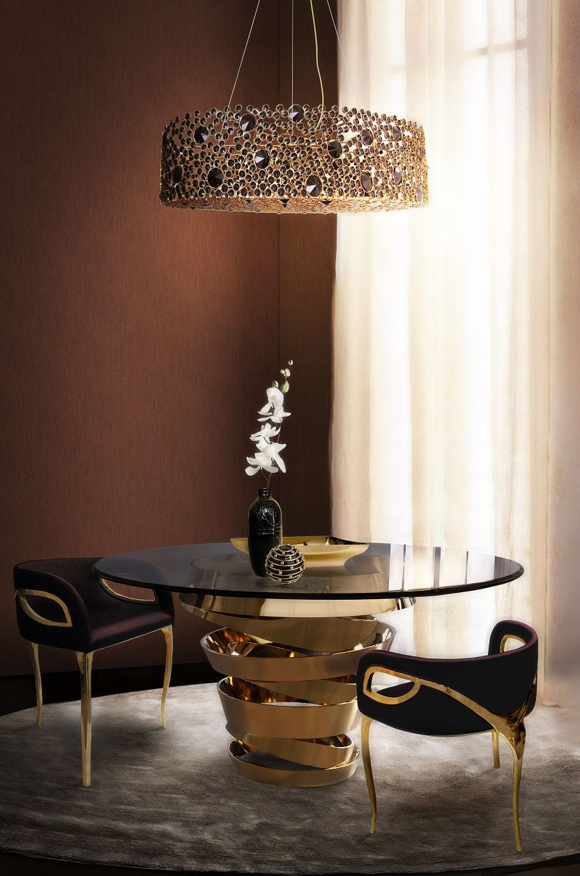 KOKET-eternity-chandelier-intuition-dining-table-chandra-dining-chair-6