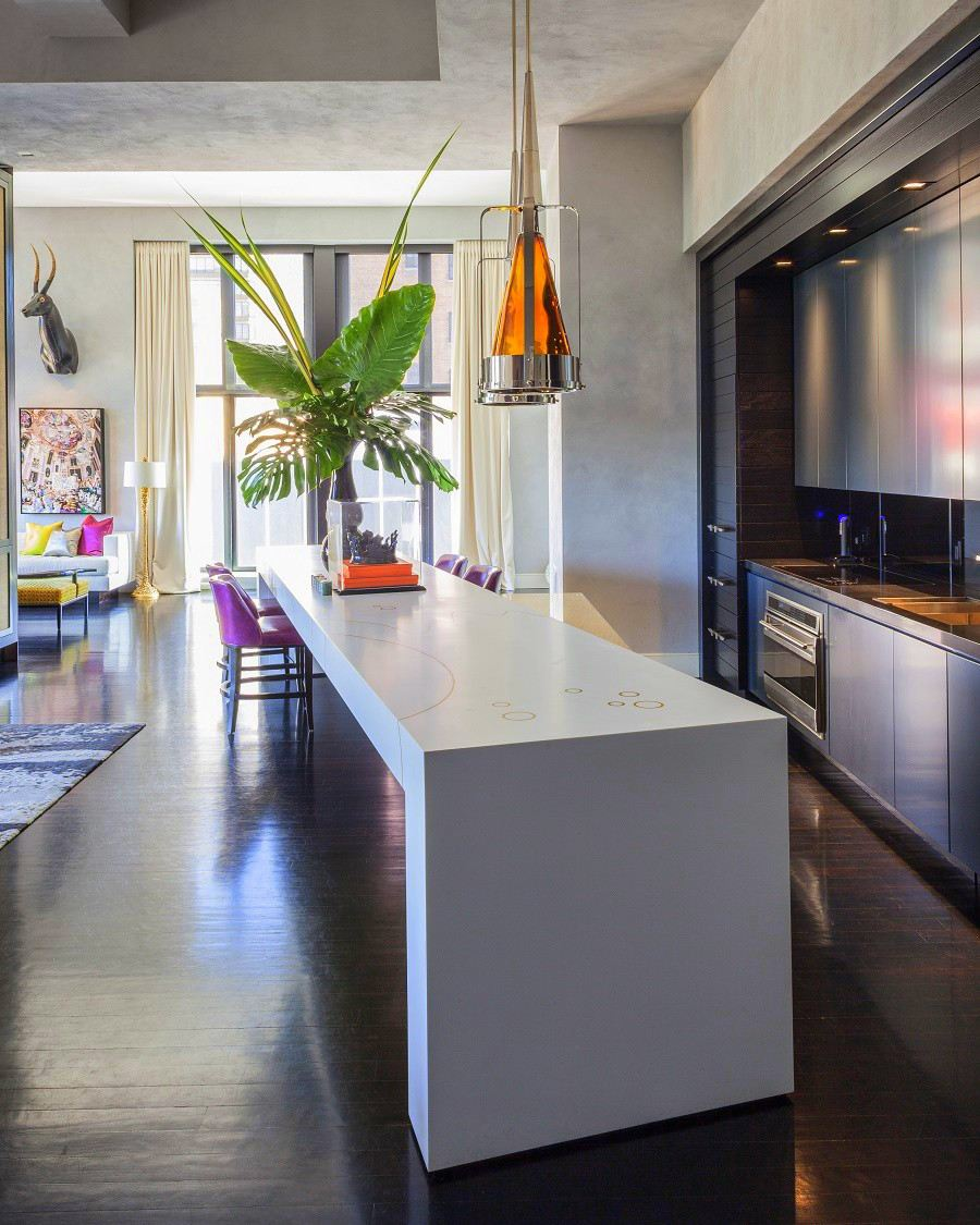 jamie drake's apartment kitchen side profile