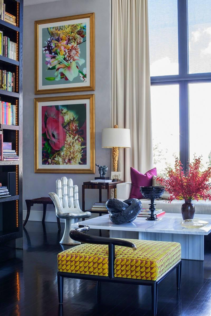 jamie drake's apartment living room center