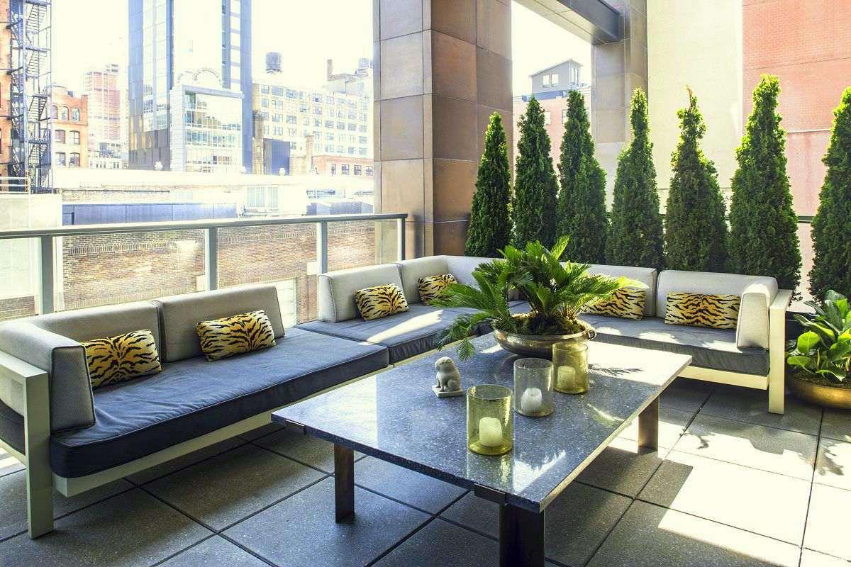 Jamie drake's apartment terrace