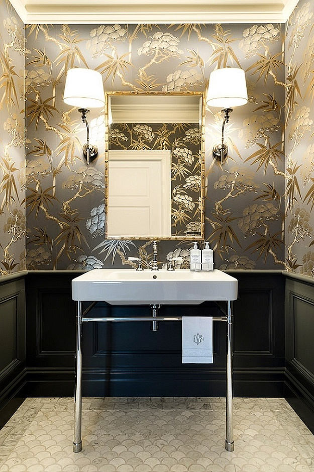 18 Statement Making Powder Rooms Dk Decor