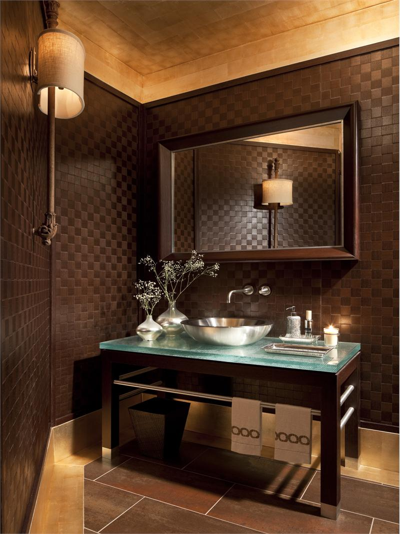 18 statement making powder rooms dk decor - Powder room sink ideas ...