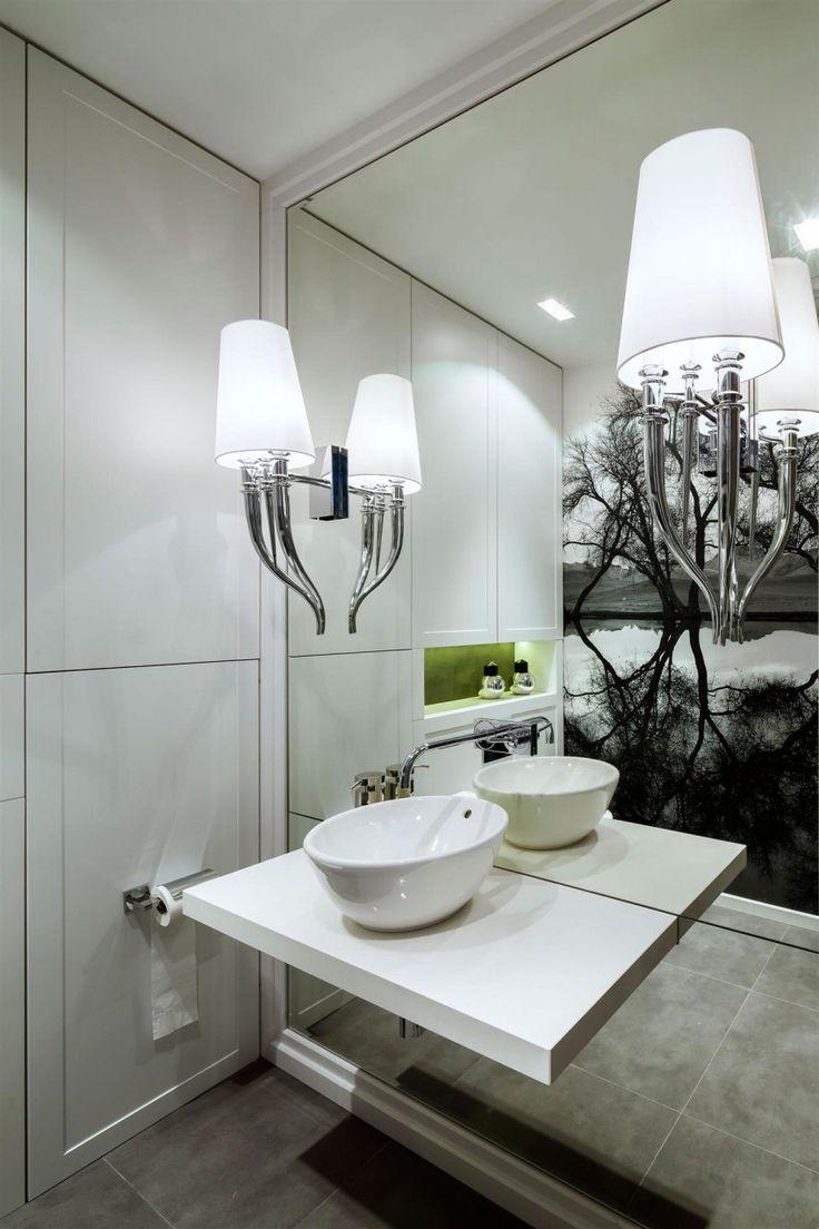 Powder Rooms Mirror Wall