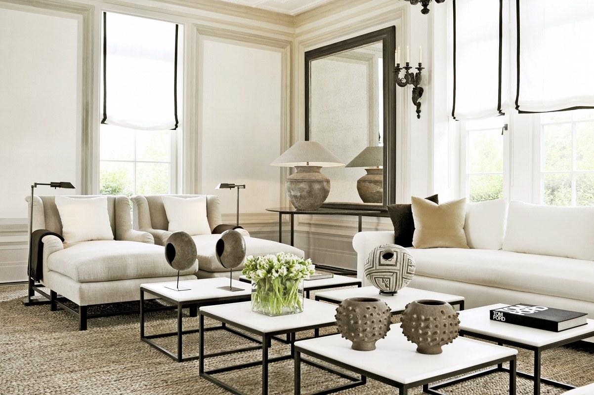 Landmark hamptons estate villa maria dk decor for Hamptons living room designs