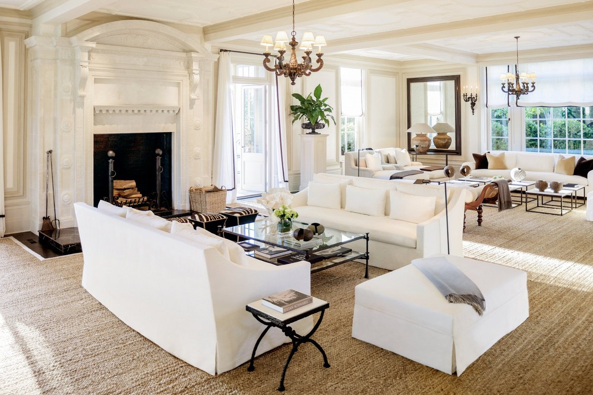 Landmark hamptons estate villa maria dk decor - Lounge deco ...