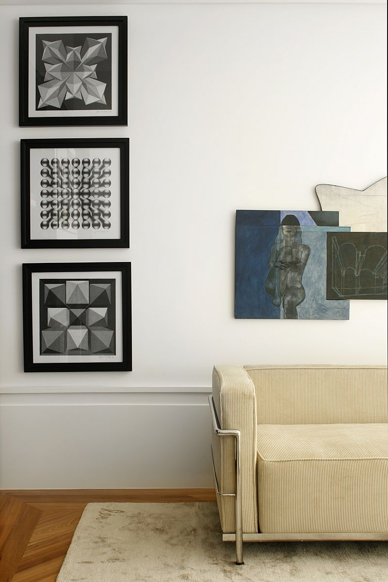 diego revollo artist's apartment living room prints