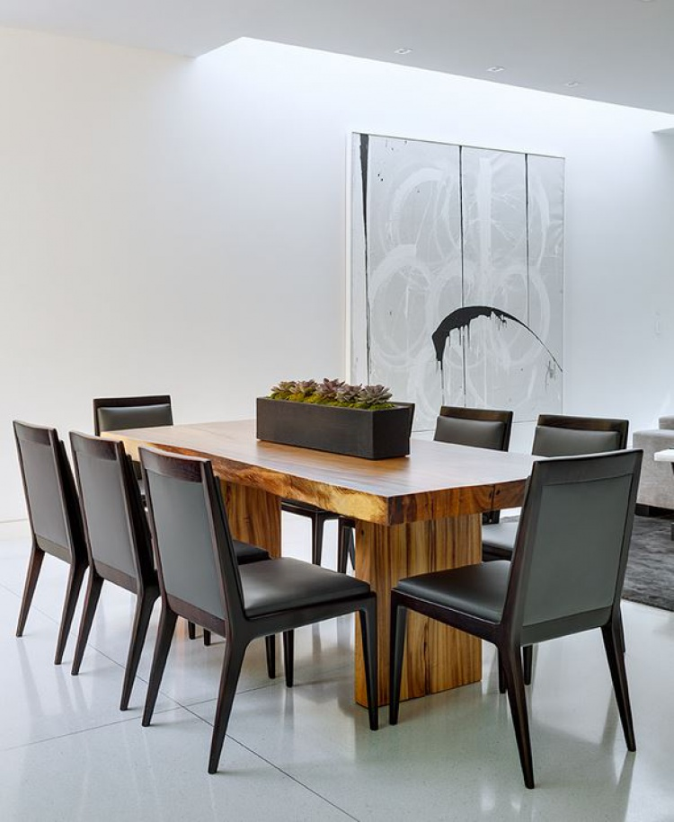 Minimalist interior design dining area