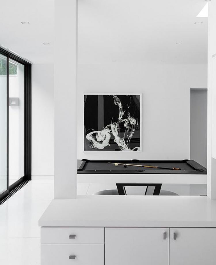 Minimalist interior design pool table