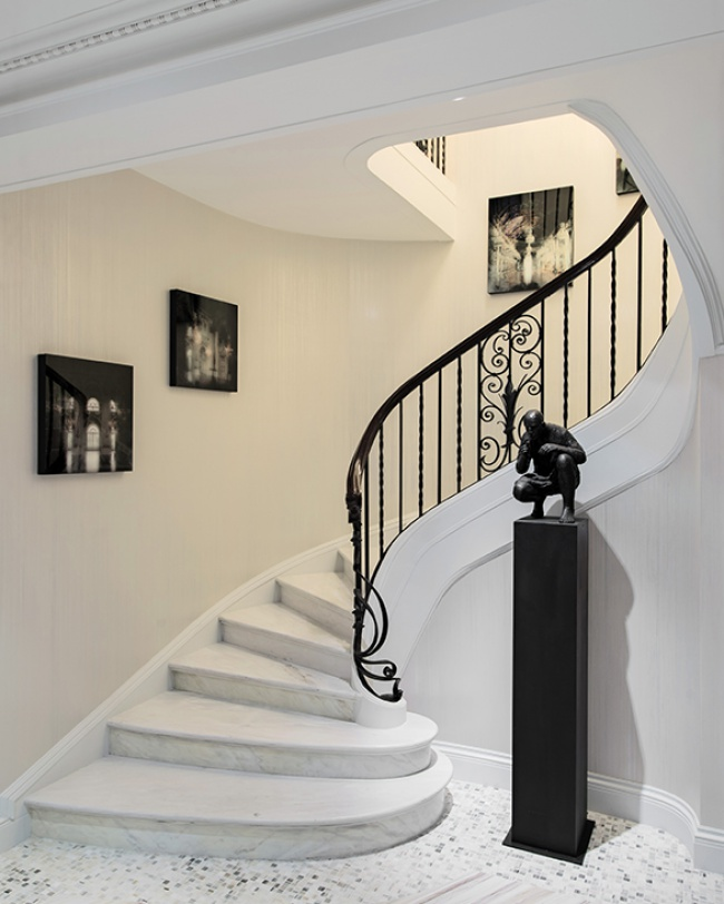 Modern Classic design foyer stairs