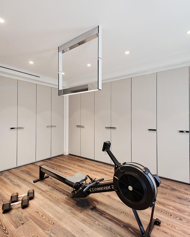 Modern classic design home gym