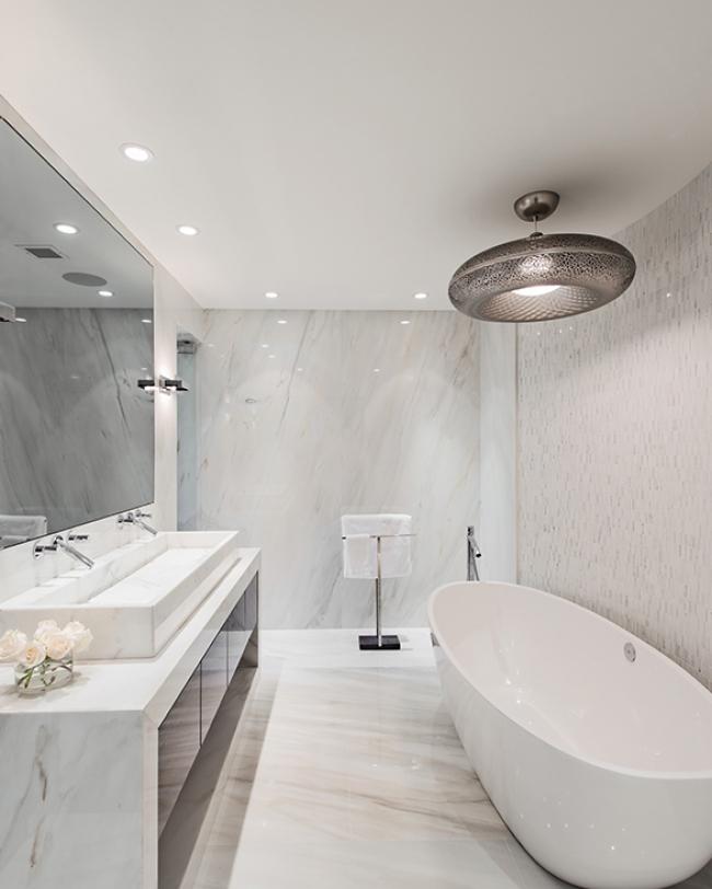 Modern Classic design master bathroom