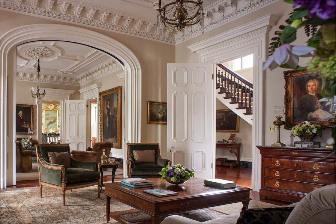 Perfect Charleston Southern Classic Mansion Design Parlor Detail