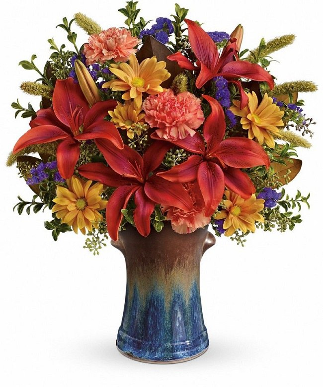 floral- country artisan bouquet