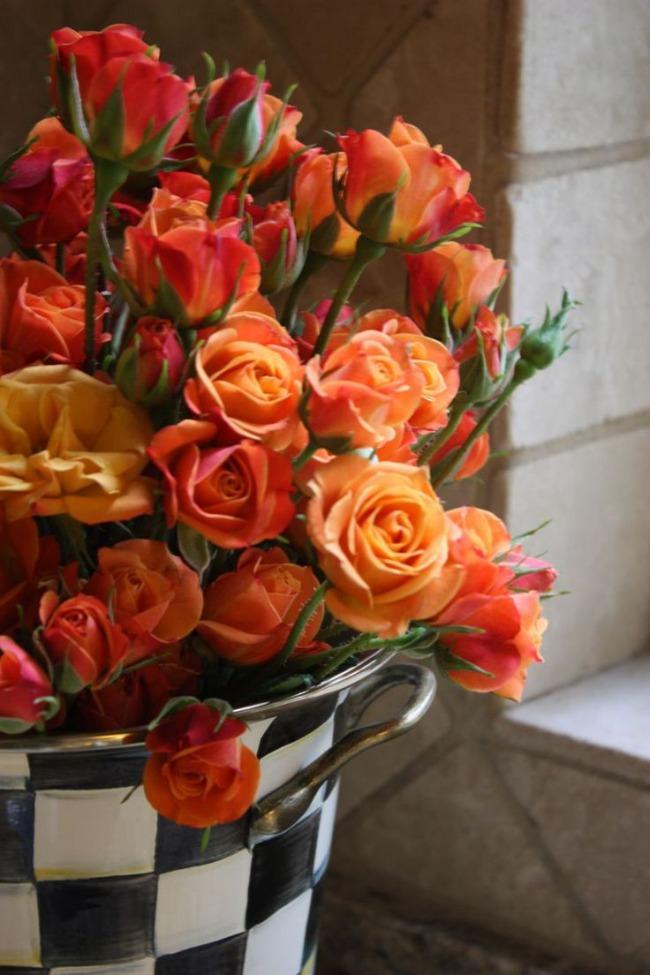 floral-orange roses