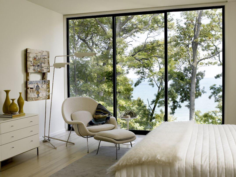 Kadlec Modernist Inspired Lakefront Residence Guest Bedroom Detail