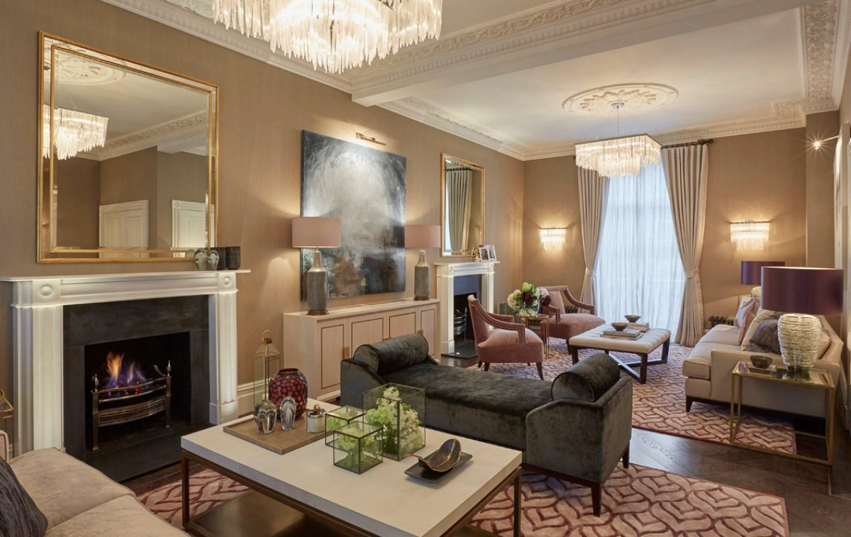 london Georgian townhouse drawing room A