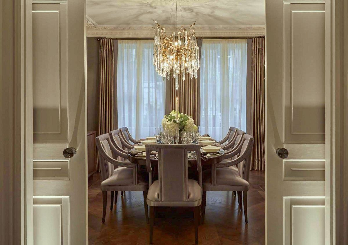 london Georgian townhouse formal dining A
