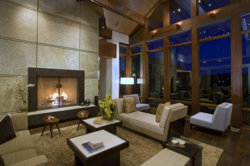 Idaho contemporary mountain retreat living room cover