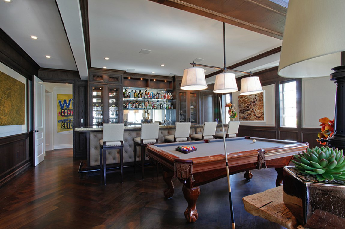 biscayne bay waterfront mansion billiards bar a