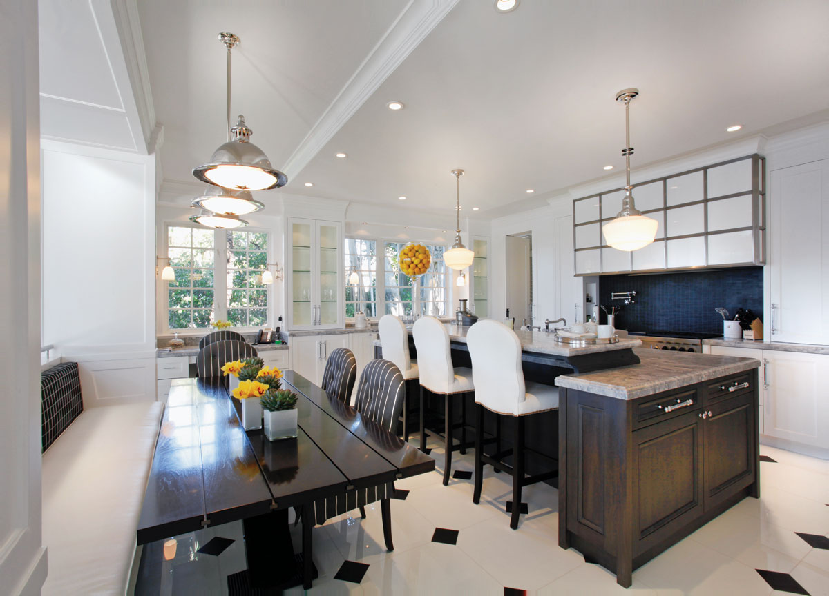 biscayne bay waterfront mansion kitchen
