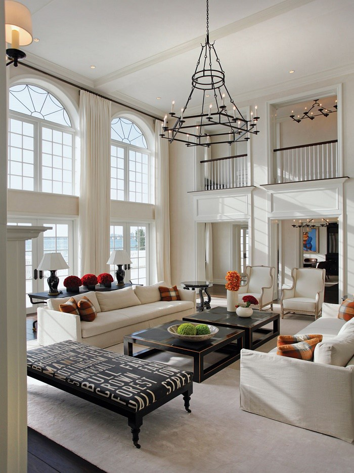 biscayne bay waterfront mansion living room b