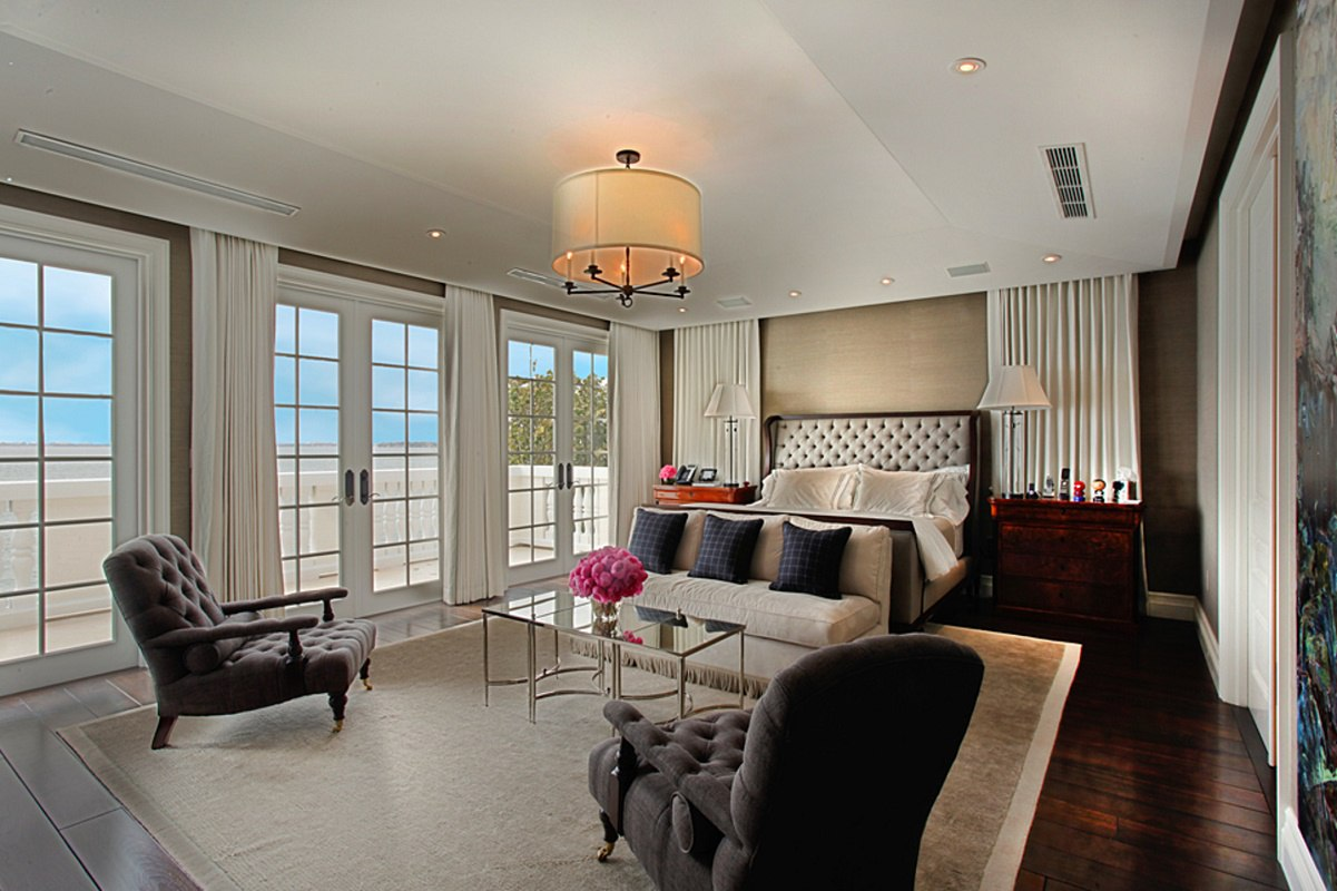 biscayne bay waterfront mansion master bedroom