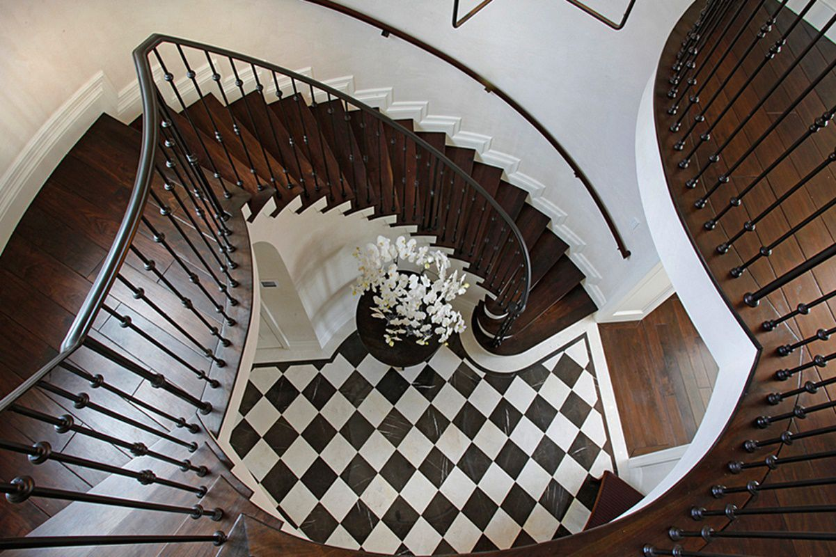 biscayne bay waterfront mansion staircase