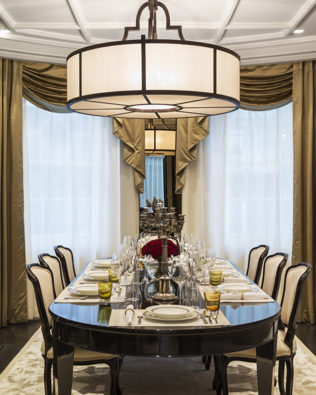 knightsbridge townhouse formal dining room detail