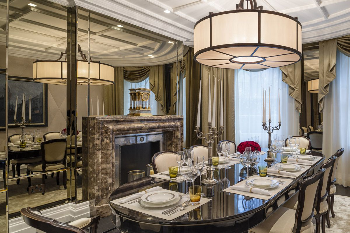 knightsbridge townhouse formal dining room